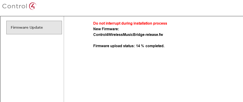 firmware update control4 music bridge davidson