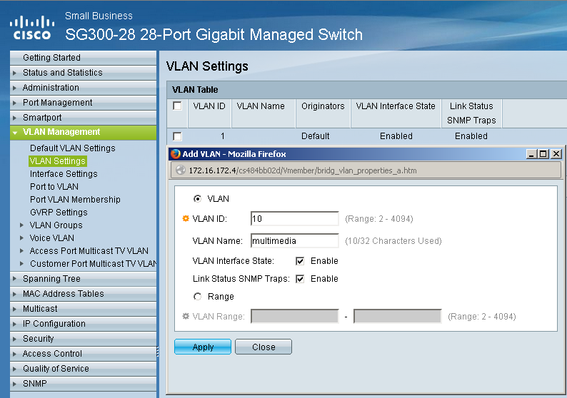 Setup a Cisco SG300 / 500 switch for Dante | technet